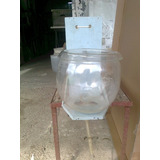 Contenedor Antiguo Para Agua Destilada Laboratorio Con Base