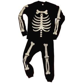 Pijama Esqueleto Luminoso En La Oscuridad + 2 Regalos