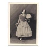 Antigua Foto Mujer Vestida De Gitana Disfraz