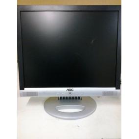 Monitor Aoc Lcd 17 Multimídia Com Defeito.