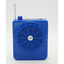 Amplificador Voz Megafone Microfone Aulas Palestrante Azul