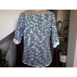 Blusa De Linha Em Algodão Mesclado Em Crochê Artesanal Tam M