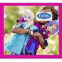 2 Bonecas Pelucia Frozen - Ana E Elsa Disney 50cm