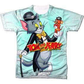 Camiseta - Camisa Desenho Animado Tom E Jerry Estampada 5