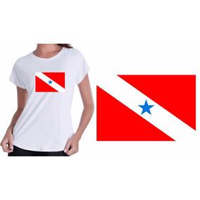 Camisa Camiseta Baby Look Branca Pará Bandeira Paraenses Top