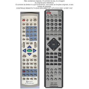 Controle Remoto Tv-dvdDiplomatDp-14tv-dvd-oke 12 Fbt 1167
