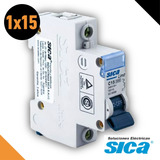 Llave Termica Termomagnetica Unipolar 1 X 15 Amp Sica 1x15a