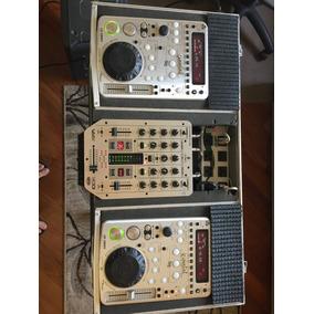 Kit Dj - Cdj (gemini 1800x) + Mixer Vmx-200 + Case