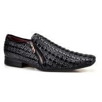 Sapato Social Masculino Calvest Jazz Em Couro Texturizado
