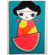 Cuadros Modernos Frida Sandia Artdeco Tucan  20x30cm