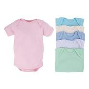 Body Infantil Canelado Kit 6 Sortido Calor Manga Curta