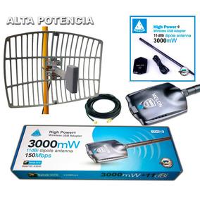 Antena Wifi Largo Alcance 18 Dbi + Wifisky 3000mw Rompemuros