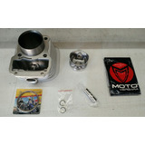 Cilindro Honda Xr 125 / Cg Fan C/ Piston Y Aros Motovergara