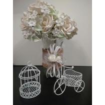Souvenirs Mini Jaulita/bici Shabby Chic Casamiento Bautismo