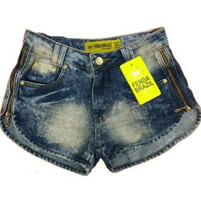 Short Feminino Jeans Marca Fenda Brazil Lojas Bh