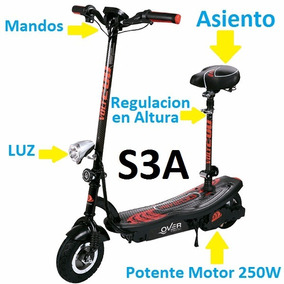 Monopatin Eléctrico Scooter C/ Asiento S3a 24v 20kmh 100kg