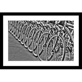 Cuadro Moderno, Blanco Y Negro, Bicicletas, 40x60 Cm.