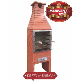 Churrasqueira Pre Moldada Rustica 62 Gaveta + Grelha