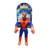 Muñeco Soft Spiderman Hombre Araña De Tela C/sonido
