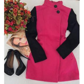 Casaco La Batida Pink E Preto Tam 38