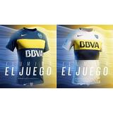 Nueva Camiseta Boca Titular / Suplente 2016/17 Tela De Juego