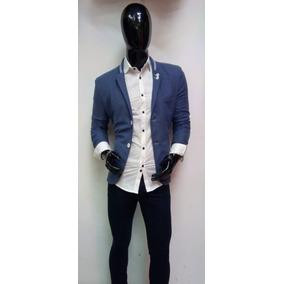 Saco Slim Fit Para Caballero En Tono Azul a17224fe472