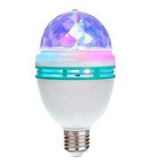 Lampara Giratoria Luces Led Dj 3 Colores Rgb Efectos Fiestas