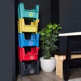 5 Contenedores Para Reciclaje Plástico 100% Reciclado/ Denda