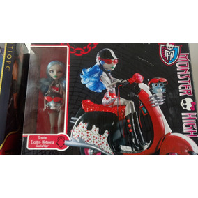 Monster High Ghoulia Scooter Muñeca Mascota Y Moto