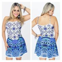 Vestido Panicat Boneca Cinturado Moda Verão Moda Feminina