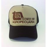 Boné Técnico Agropecuária Tela Country Aba Curva Trucker