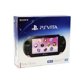 Psvita Sony Wi-fi Pink Black Rosa + Cartão Memória 16gb