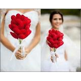 Buquê De Coração Noiva Pré Wedding Buque Para Jogar