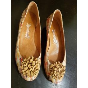 Hermosas Chatitas Taco Chino Nuevas Cuero 37 Zapatos Mujer