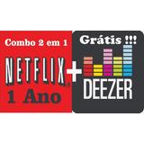 Cartão Pré-pago N£tflix/deezer 1 Ano Premium Envio Imediato