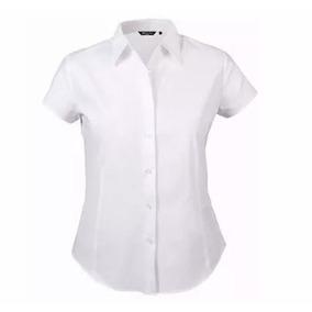 Camisa Dama Unicolor Manga Corta Excelente Calidad