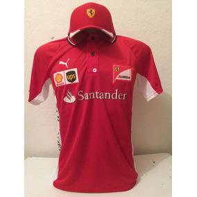 Kit Camiseta + Boné Santander Ferrari Vermelho Lançamento c0e92973c7c