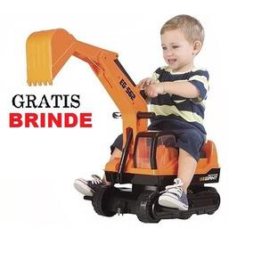 Escavadeira Gigante Infantil Giant Escavator - Roma + Brinde