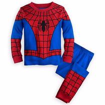 Pijama/fantasia Disney Store Original Homem Aranha Novo!!
