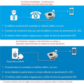 Interfone Sem Fio 2 Entradas Para Até 200 Ramais Novo