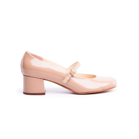 Natacha Zapato Mujer Guillermina Charol Nude #331