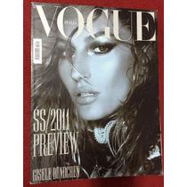 Revista Vogue Importada Itália Gisele Bundchen 18 Pág Top M