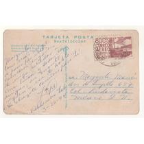 L606-méxico Tarjeta Postal Villahermosa .80 Centavos Aereo