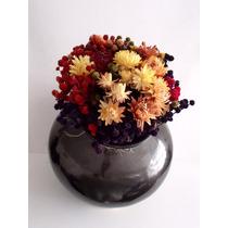 Arreglos Florales Con Olla Artesanal Para Centros De Mesa.