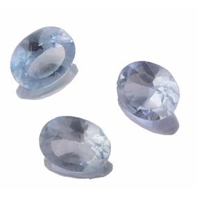 Lote 3 Pedra Preciosa Natural Topazio Azul Oval J19654
