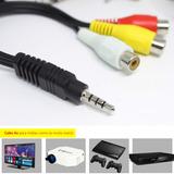 Cabo Av 3 Rca Femea P2 3,5 Mini Projetor Tv Led Lg Samsung