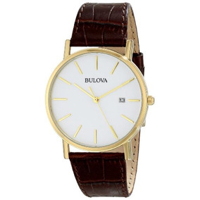 Reloj Bulova 97b100 De Acero Inoxidable Dorado Con Banda...