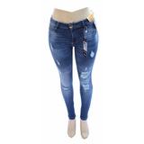 Calça Jeans Sawary Up Cigarrete Rasgada Com Lycra Ref 8099