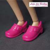 Tênis Crocs Para Boneca Barbie * Sapato Sapatinho Pink 18