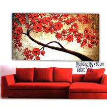 Cuadros Pinturas Florales Texturizados Variados Diseños.